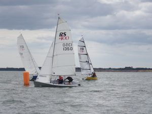 RS400's rounding the leeward mark